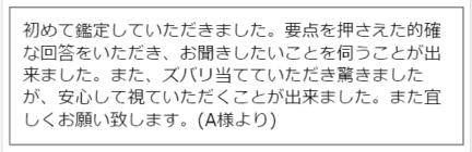 桜華先生の口コミ(要点を押さえた的確な回答をいただき)