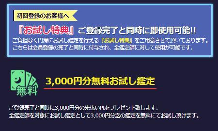 電話占いウィルの3000円無料特典